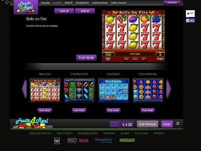 Fruits4real online casino